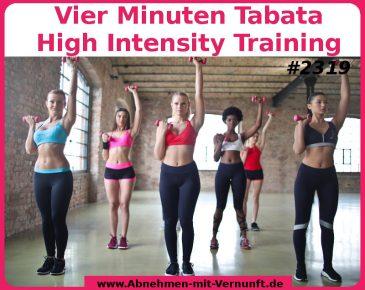 Vier Minuten Tabata Training haben es in sich